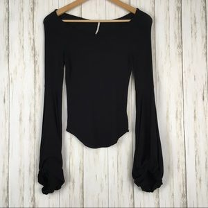 Free People To The Tropics Black Top